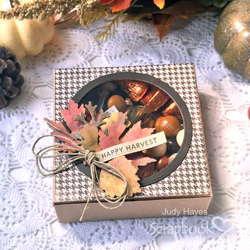 Happy Harvest Treat Box by Judy Hayes for Scrapbook Adhesives by 3L