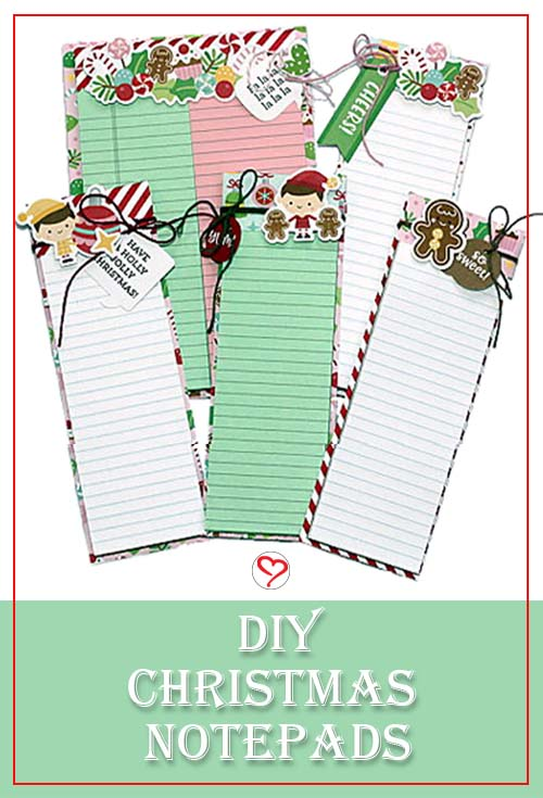 Christmas Notepad Tutorial by Connie Mercer for Scrapbook Adhesives by 3L Pinterest