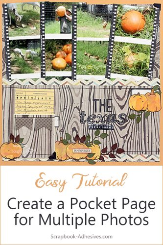 Pumpkin Patch Pocket Page by Connie Mercer for Scrapbook Adhesives by 3L