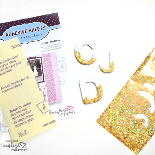 How to Add Holographic Foil to Chipboard Letters Using Adhesive Sheets