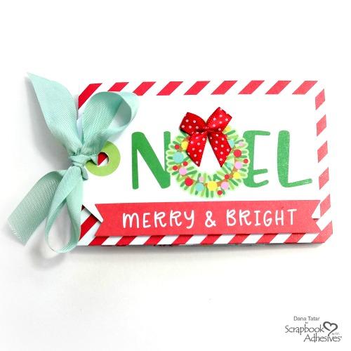 Noel Wreath Christmas Gift Card Holder