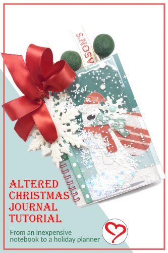 Altered Christmas Journal Tutorial by Shellye McDaniel for Scrapbook Adhesives by 3L