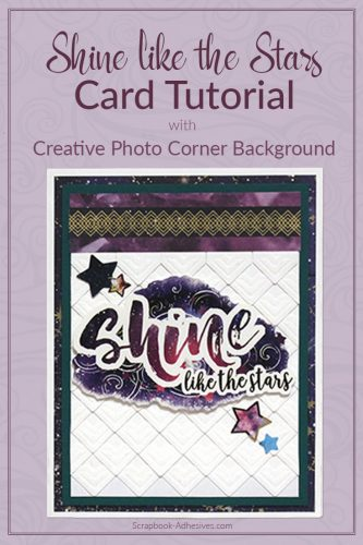 Texture Background with Creative Photo Corners by Tracy McLennon for Scrapbook Adhesives by 3L  long pin