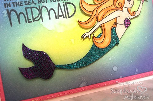 Foiled Mermaid Card Tutorial by Tracy McLennon for Scrapbook Adhesives by 3L