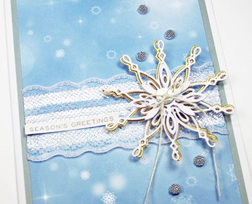 Laced Snowflake Card Tutorial by Yvonne van de Grijp for Scrapbook Adhesives by 3L