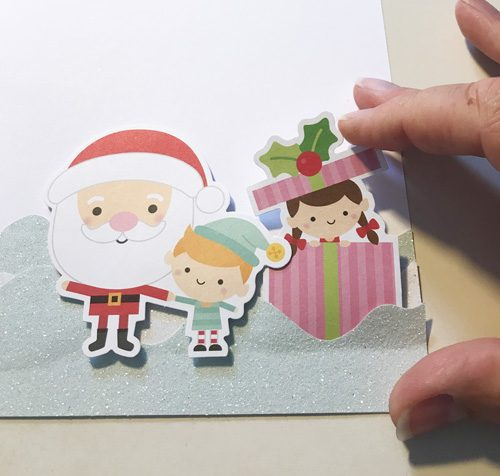 Snowy Christmas Card with 3D Foam Circles by Yvonne van de Grijp for Scrapbook Adhesives by 3L Step 3