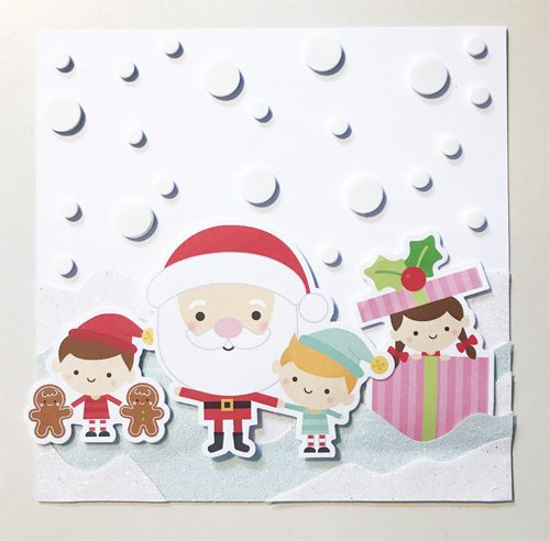 Step 4 Snowy Christmas Card with 3D Foam Circles by Yvonne van de Grijp for Scrapbook Adhesives by 3L