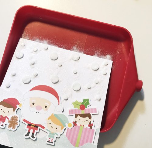 Snowy Christmas Card with 3D Foam Circles by Yvonne van de Grijp for Scrapbook Adhesives by 3L Step 5