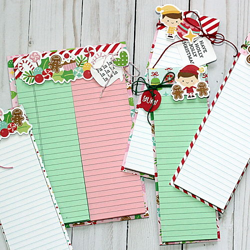 Christmas Notepad Tutorial by Connie Mercer for Scrapbook Adhesives by 3L