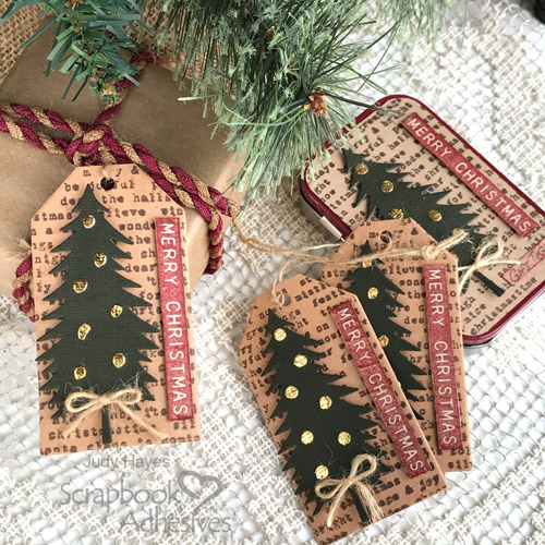 Rustic Farmhouse Merry Christmas Gift Tags and Tin Set by Judy Hayes for Scrapbook Adhesives by 3L