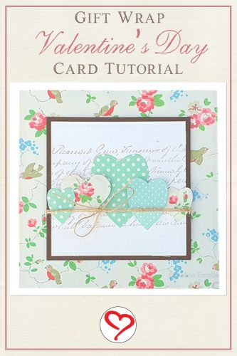 Gift Wrap Valentine's Day Card by Christine Emberson for Scrapbook Adhesives by 3L Pinterest