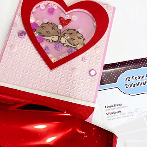 Hedgehog Valentine Shaker Card Tutorial by Ivy Pe for Scrapbook Adhesives by 3L
