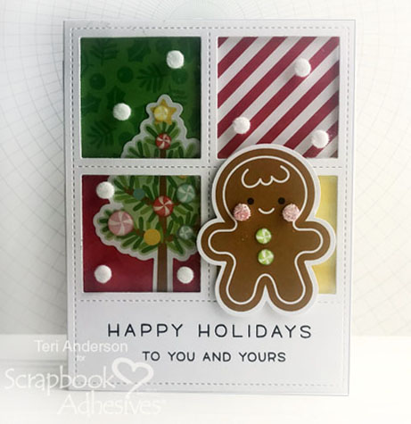 Happy Holidays Window Scene Cards Tutorial by Teri Anderson for Scrapbook Adhesives by 3L