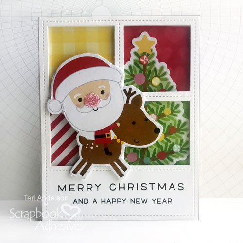 Merry Christmas Window Scene Cards Tutorial by Teri Anderson for Scrapbook Adhesives by 3L