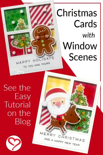 Happy Holidays and Merry Christmas Window Scene Cards Tutorial by Teri Anderson for Scrapbook Adhesives by 3L