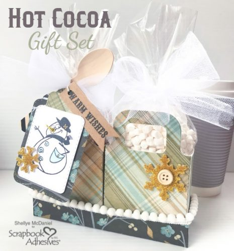 Hot Cocoa Gift Set Tutorial by Shellye McDaniel for Scrapbook Adhesives by 3L