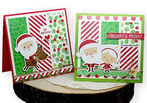 Merry Card Set Tutorial by Connie Mercer for Scrapbook Adhesives by 3L