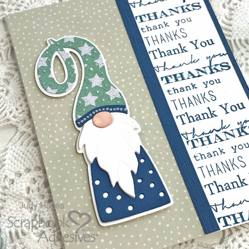 Gnome Thank You Card Tutorial by Judy Hayes for Scrapbook Adhesives by 3L