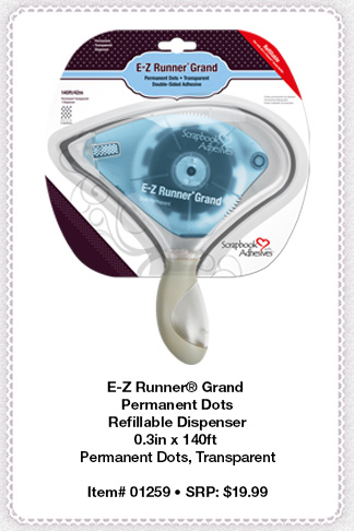 E-Z Runner Grand Permanent Dots Dispenser by Scrapbook Adhesives by 3L