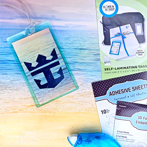 Custom Luggage Tags Tutorial by Ivy Pe for Scrapbook Adhesives by 3L