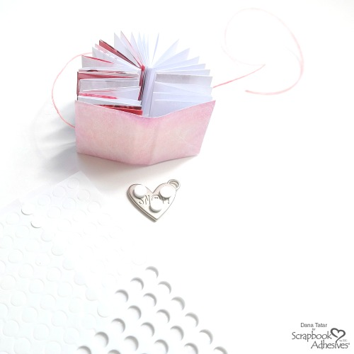 Secret Message Mini Book by Dana Tatar for Scrapbook Adhesives by 3L