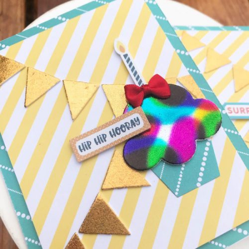 Rainbow Cupcake Birthday Cards by Shellye McDaniel for Scrapbook Adhesives by 3L