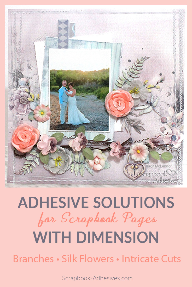 Adhesive Solutions for a Dimensional Layout by Tracy McLennon for Scrapbook Adhesives by 3L