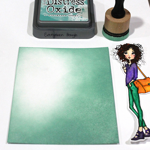 How to use a Stencil and Glitter on a Background by Tracy McLennon for Scrapbook Adhesives by 3L