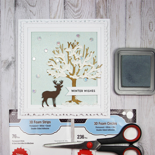 Framed Winter Wishes Card by Yvonne van de Grijp for Scrapbook Adhesives by 3L