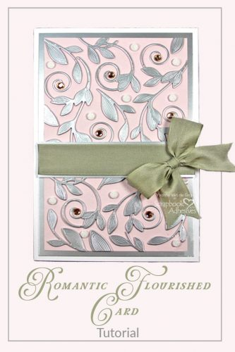 Romantic Flourished Card Tutorial by Yvonne van de Grijp for Scrapbook Adhesives by 3L