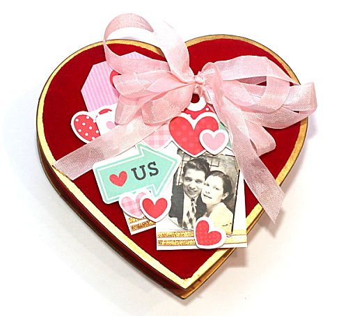 A Heart Shaped Valentine's Day Gift Box Tutorial by Connie Mercer for Scrapbook Adhesives by 3L