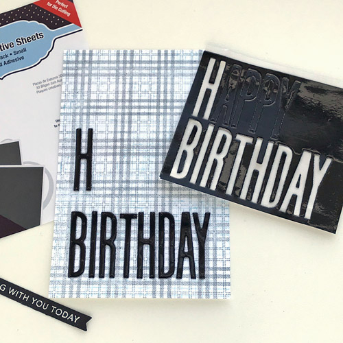 Bold and Simple Masculine Birthday Card by Judy Hayes for Scrapbook Adhesives by 3L