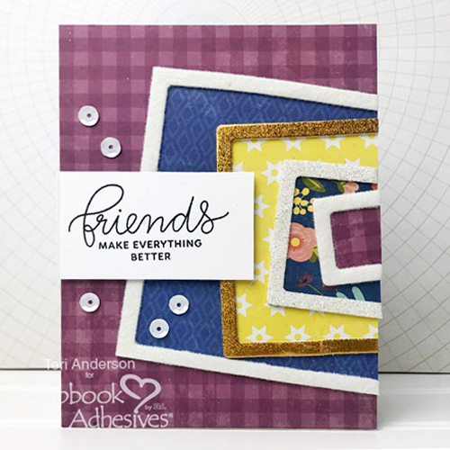 Framed Friends Fun Cards Tutorial by Teri Anderson for Scrapbook Adhesives by 3L