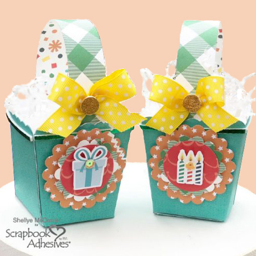 Birthday Party Favor Boxes by Shellye McDaniel for Scrapbook Adhesives by 3L