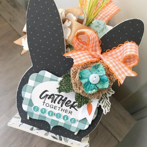 Bunny Ephemera Caddy by Shelley McDaniel for Scrapbook Adhesives by 3L