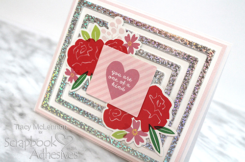 One of a Kind Foiled Frame Background Card by Tracy McLennon for Scrapbook Adhesives by 3L