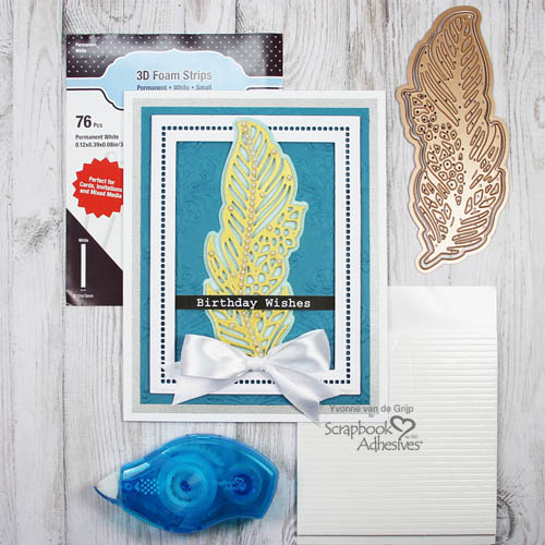 Birthday Wishes Card Tutorial by Yvonne van de Grijp for Scrapbook Adhesives by 3L Blog