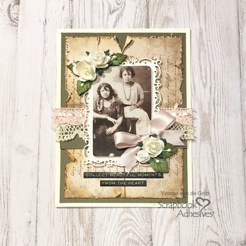Beautiful Moments Vintage Photo Card by Yvonne van de Grijp for Scrapbook Adhesives by 3L