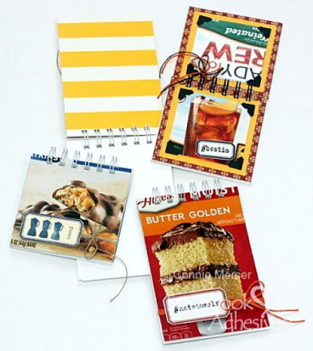 Trash to Treasured Notebook by Connie Mercer for Scrapbook Adhesives by 3L