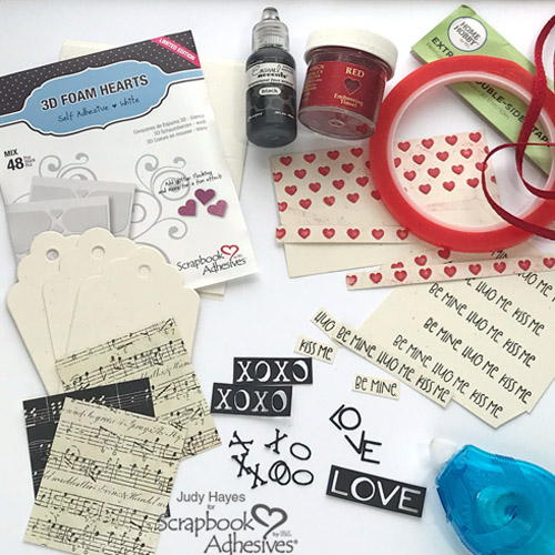 Valentine's Day Heart Tags by Judy Hayes for Scrapbook Adhesives by 3L