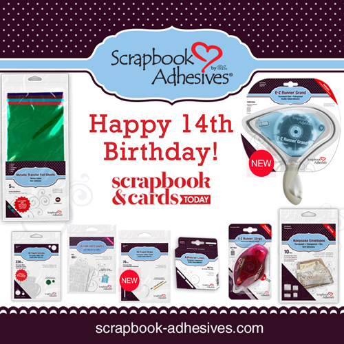 Happy 14th Birthday Celebration and Giveaway with Scrapbook and Cards Today Magazine - Scrapbook Adhesives by 3L Giveaway Image