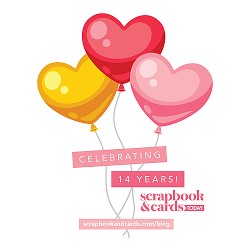 Happy 14th Birthday Celebration and Giveaway with Scrapbook and Cards Today Magazine Logo