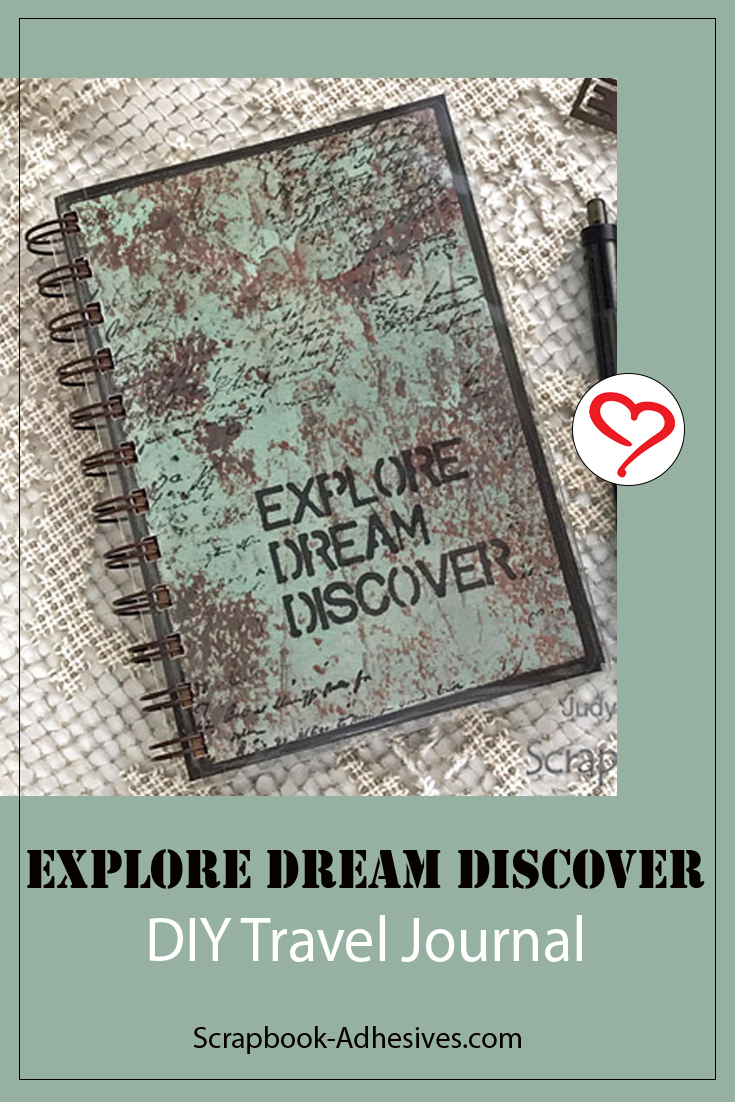 DIY Travel Journal by Judy Hayes for Scrapbook Adhesives by 3L Pinterest