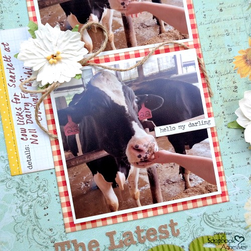 DIY Cow Print Paper with Adhesive Sheets by Dana Tatar for Scrapbook Adhesives by 3L