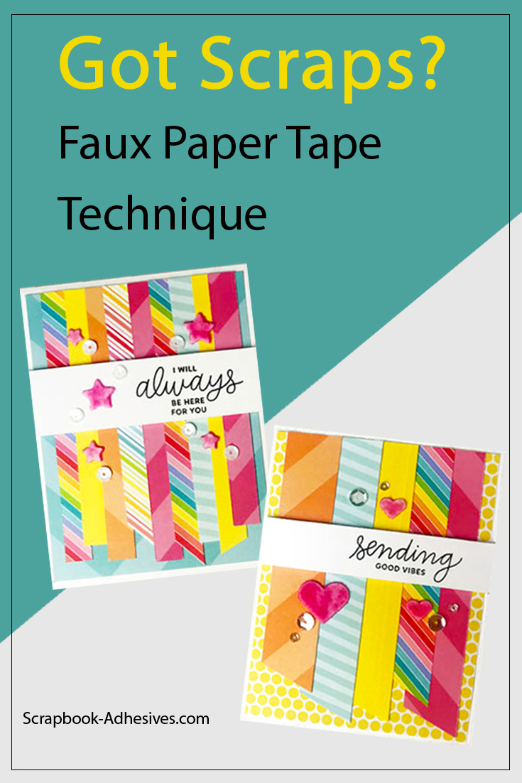 Faux Paper Tape Technique by Teri Anderson for Scrapbook Adhesives by 3L Pinterest
