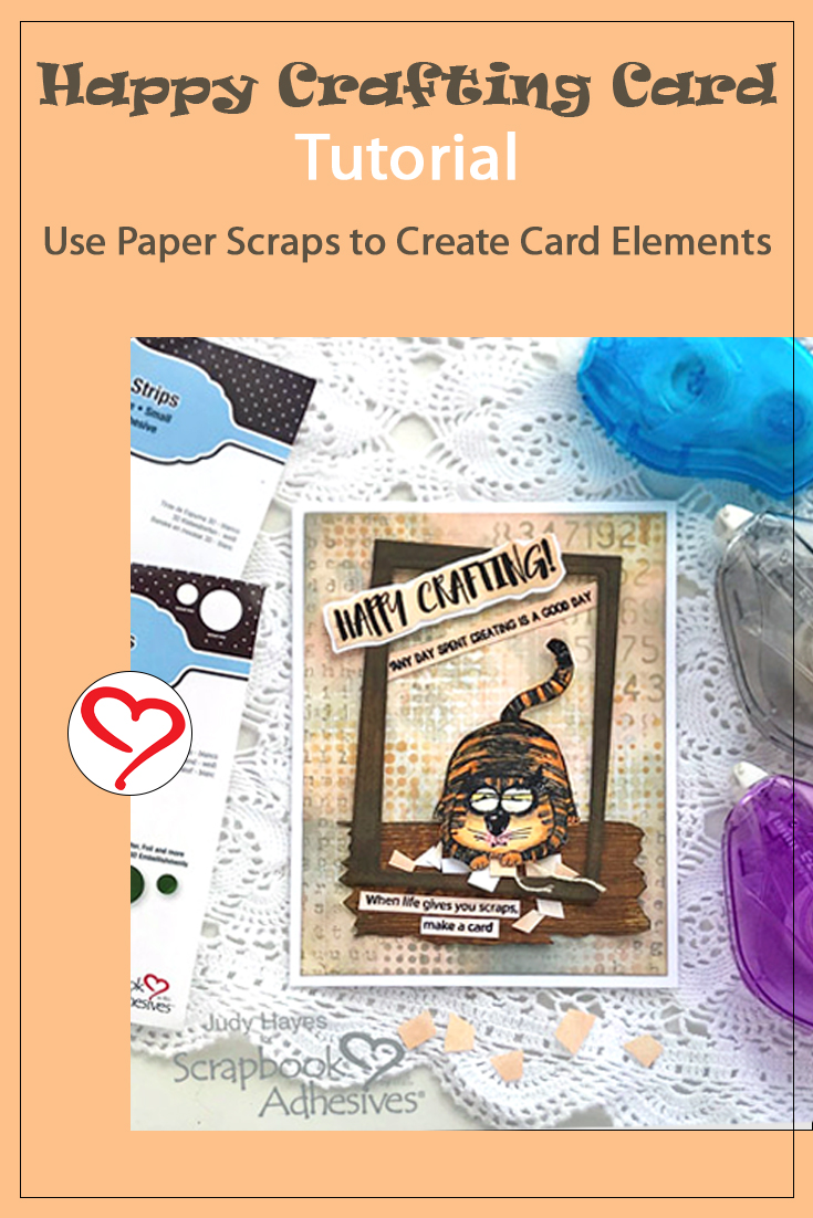 Happy Crafting Scrap Card by Judy Hayes for Scrapbook Adhesives by 3L Pinterest