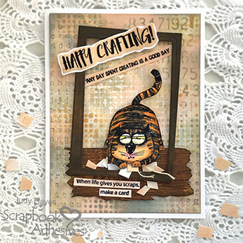Happy Crafting Scrap Card by Judy Hayes for Scrapbook Adhesives by 3L