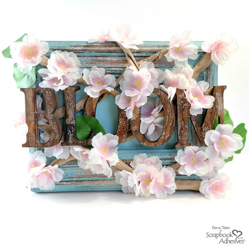 Cherry Blossom Frame Tutorial by Dana Tatar for Scrapbook Adhesives by 3L