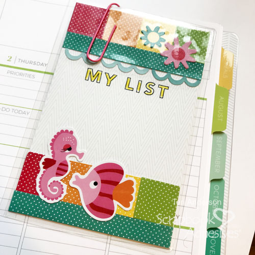 Dry-Erase Shopping Lists for Planners by Teri Anderson for Scrapbook Adhesives by 3L