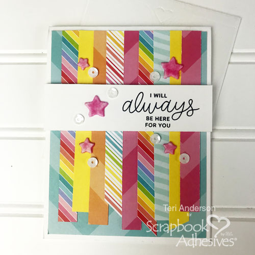 Faux Paper Tape Technique by Teri Anderson for Scrapbook Adhesives by 3L
